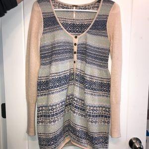 Free People Nordic Fair Isle Sweater Knit tunic